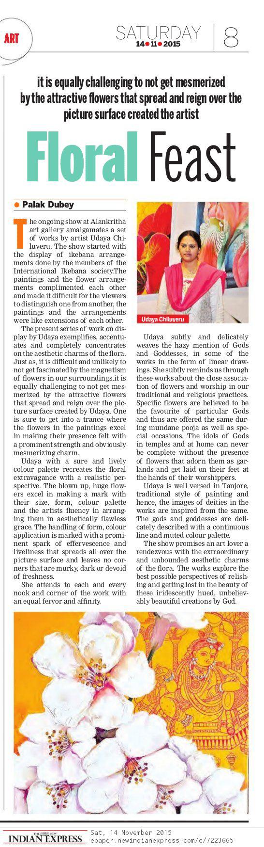 2015 Nov 14 Indian Express Udaya