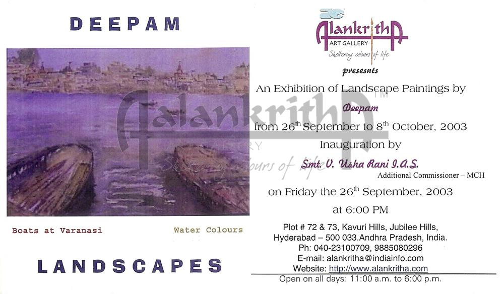 Exhibition of landscape paintings